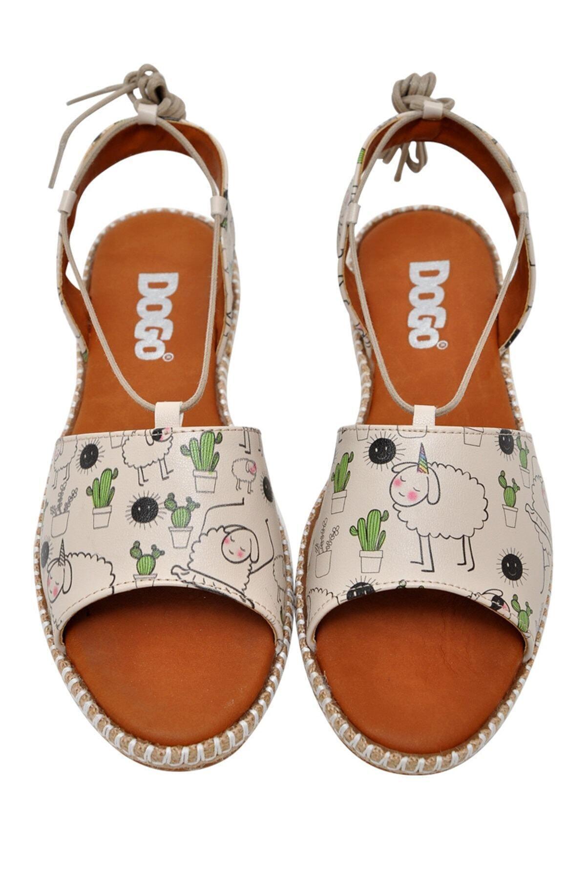 Dogo Kadın Bej Sandalet Dgs017hzl005 1