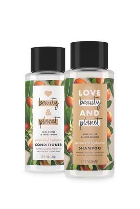 Love Beauty and Planet Shea Yağı Ve Sandalağacı Özlü Şampuan 400 Ml + Saç Kremi 400 Ml