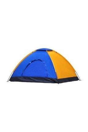 Onetick Renkli Dayanıklı Kamp Çadırı 200x200x135 4 Kişilik