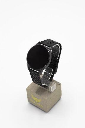 Tulpar Unisex Siyah Manyetik Hasır Kordon Dokunmatik Kol Saati