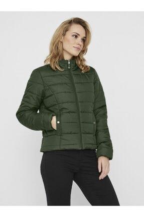 Vero Moda Kadın Yeşil Kapüşonsuz Şişme Mont