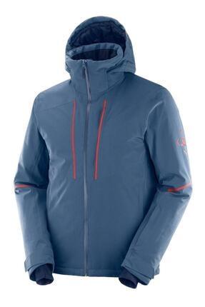 Salomon Erkek Mavi Edge Kayak Ceketi Tekstil Lc1396600