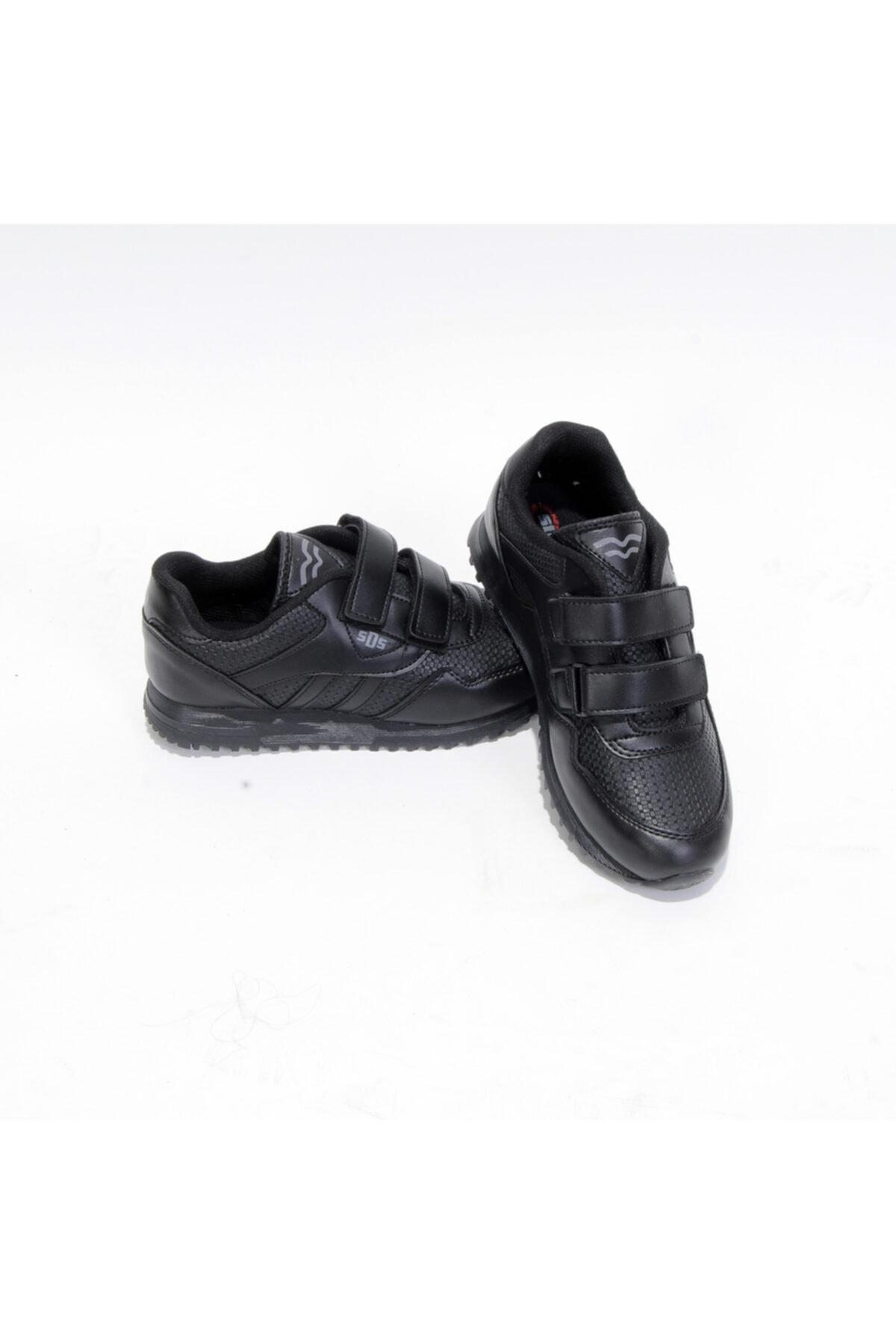 Sidasa 361-g Cırtlı Siyah-siyah Cilt Spor Ayakkabı 1