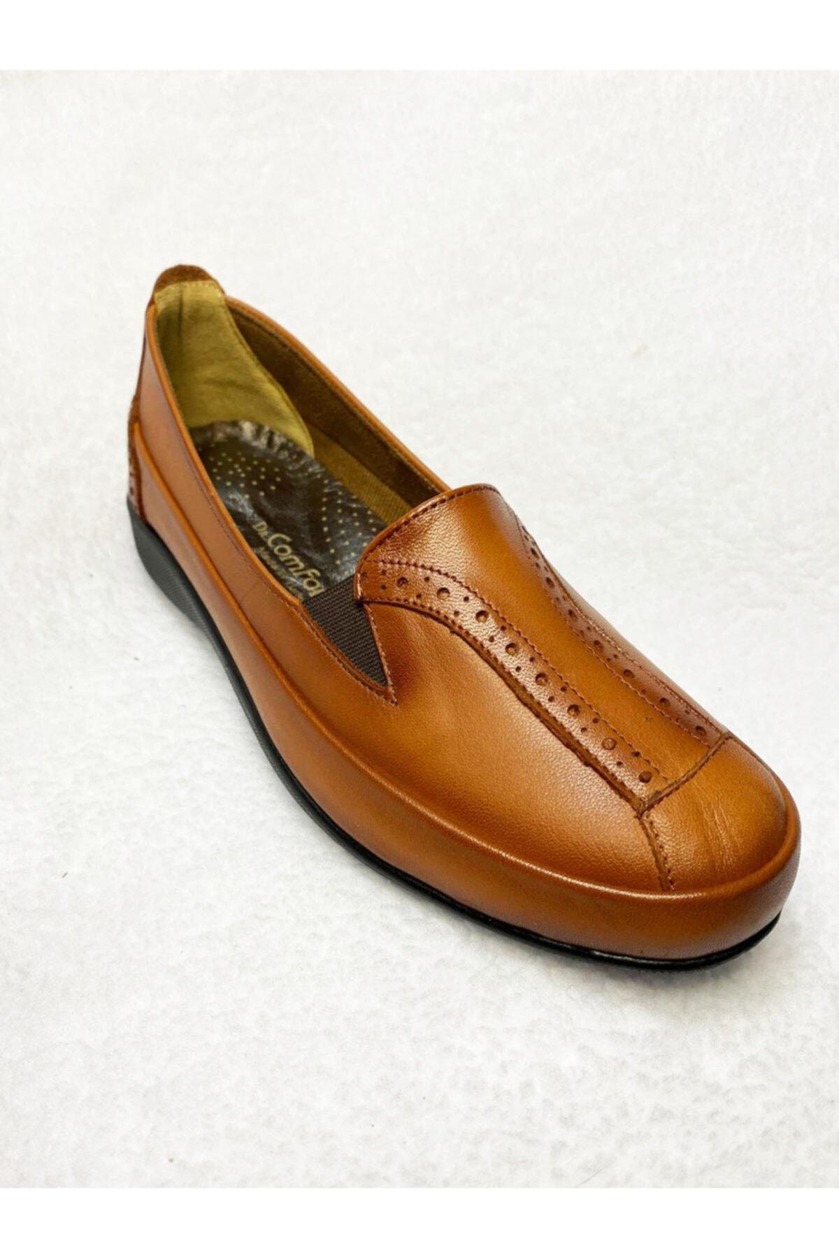 Gülperi Comfort Taba Hakiki Deri Kadın Kemik Ayakkabısı 1
