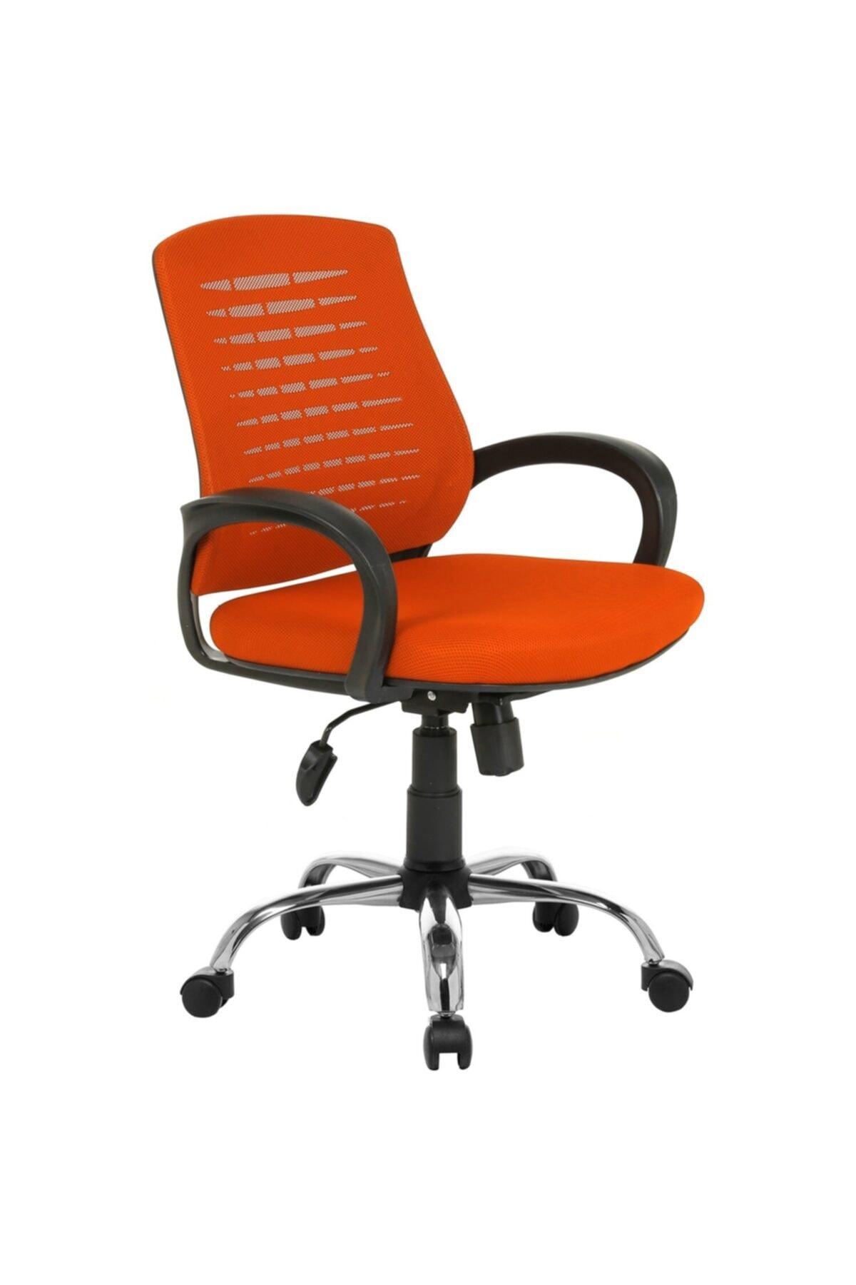 Fabrika Sers Büro Ofis Çalışma Koltuğu-turuncu Bilgisayar Sandalyesi 1
