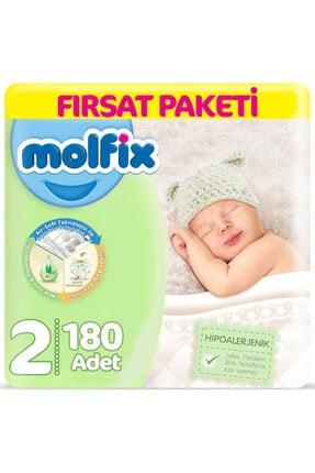 Molfix 2 Beden Yenidoğan Bebek Bezi 3-6 Kg (2*90) 180 Adet