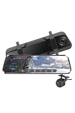 Twogo Go-900f Dokumatik Ekran 10 Inç Hd Ayna Monitör Geri Görüş Kamerası Profesyonel 32gb Kart