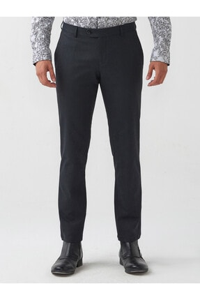 Mcr Erkek Lacivert Slimfit Poliviscon Pantolon