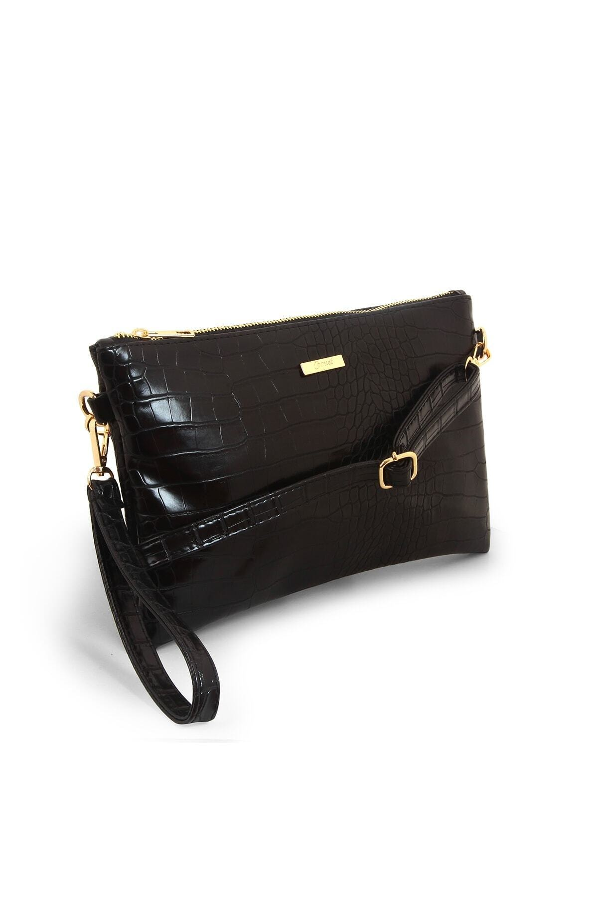 Coquet Accessories Kadın Siyah Pearly Clutch Çanta-19g3u13n001 2