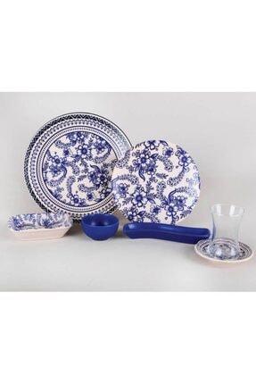 Sunix Keramika Gül Desenli 19 Parça Kahvaltı Seti