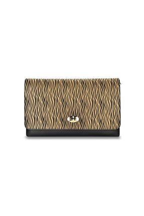 Coquet Accessories Kadın Kahverengi Zebra El Çantası 19g3u13n830