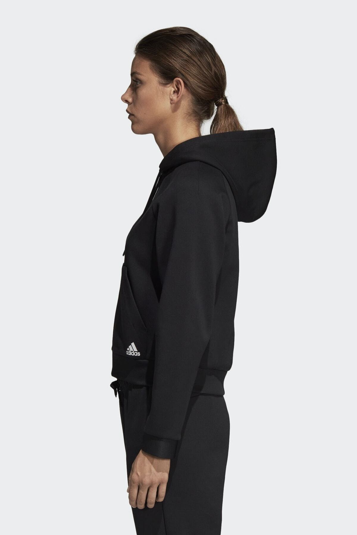 adidas Kadın Siyah W Mh Hoodie Eşofman Üstü Du6570 2