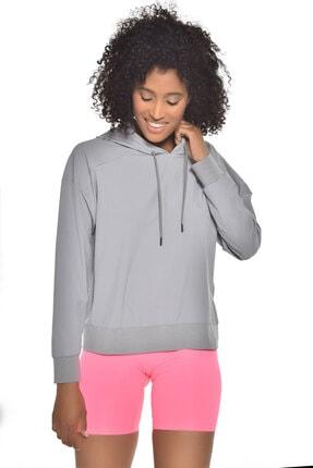 bilcee Gri Kadın Uzun Kollu Ince Sweatshirt Gw-9225