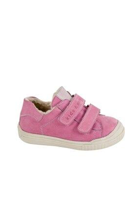 kids A more Kız Çocuk Pembe Pearl Çift Cırtlı Deri İçi Kürklü Ayakkabı