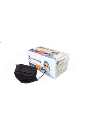 Mirmed Siyah Meltblown Medikal Maske 50li Kutuda