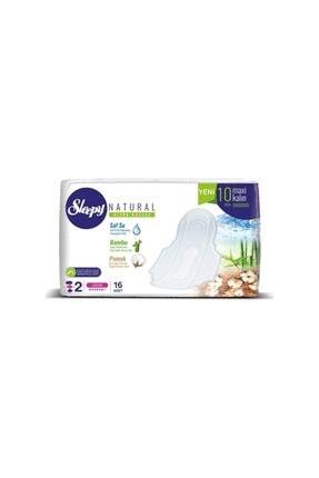 Sleepy Natural 2 Ultra Hassas Maxi Kalın (10mm) Uzun Hijyenik Ped 80 (16x5) Adet