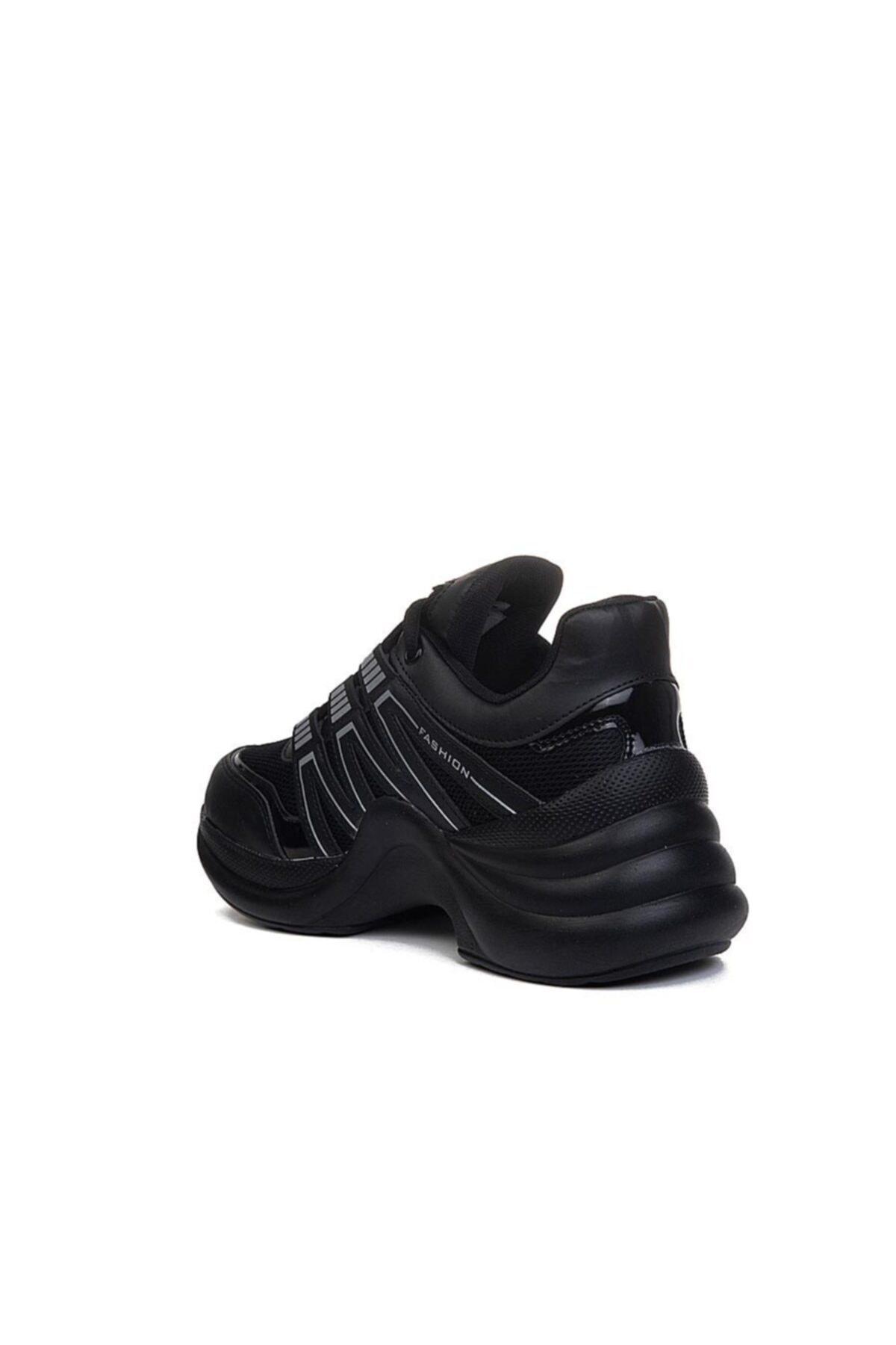 Twingo Kadın Siyah Kalın Taban Spor Ayakkabı 2