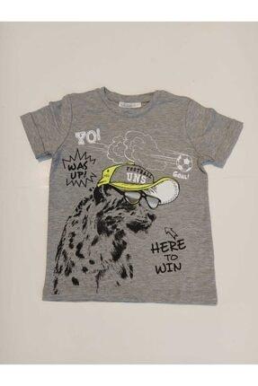 NK Erkek Çocuk Gri Gözlüklü Kaplan T-shirt