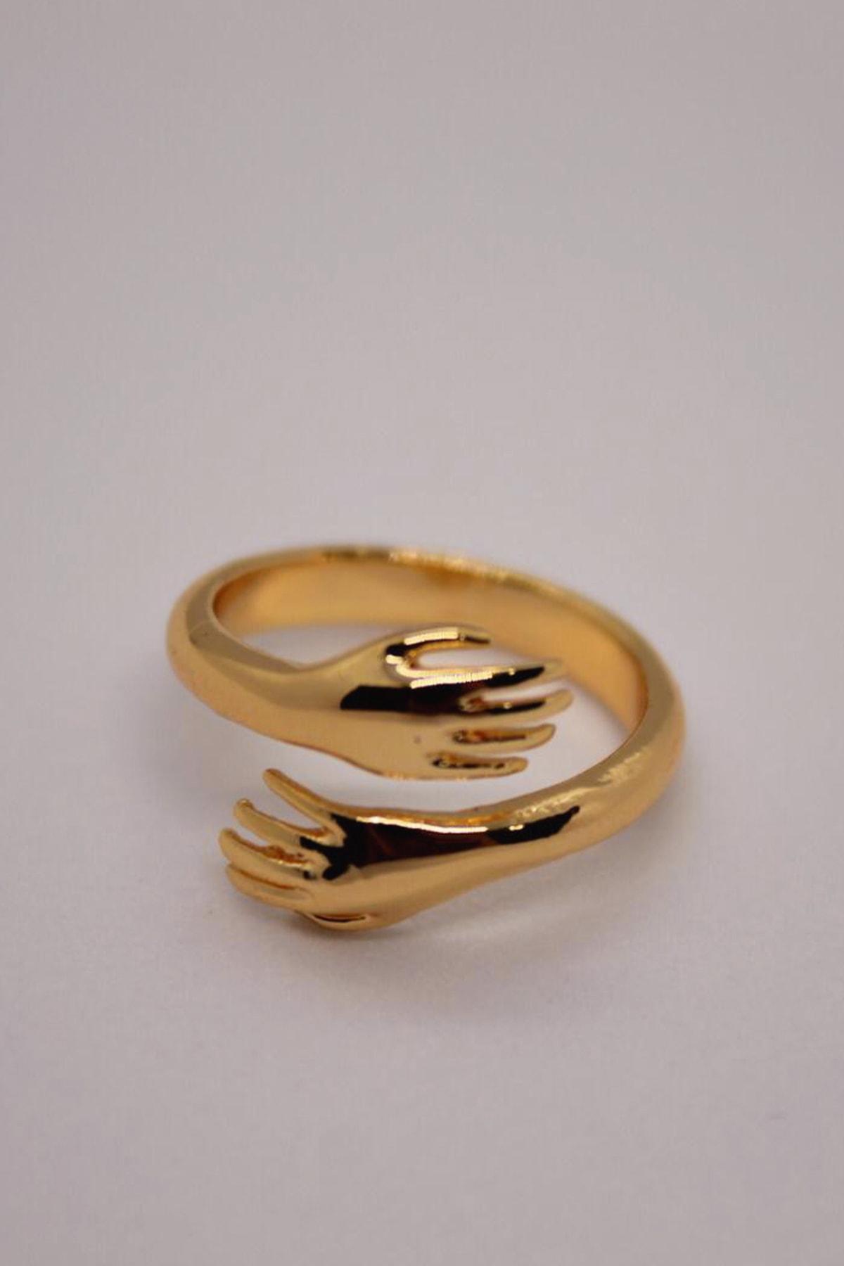 AyKara Altın Kaplama Sevgi Yüzüğü 1