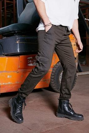 Sateen Men Erkek Haki Komando Jogger Pantolon