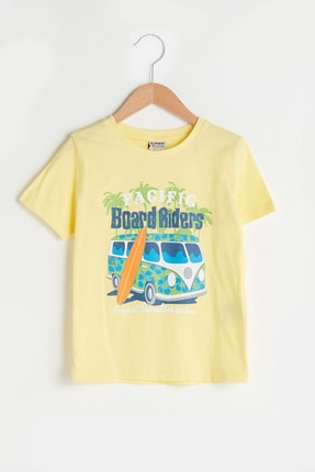 LC Waikiki Erkek Çocuk Açık Sarı Ct1 T-Shirt