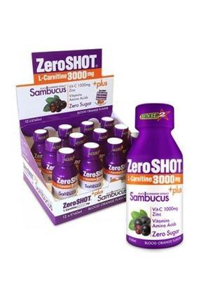 Zero Shot 60ml 3000mg L-carnitine Plus Sambucus 12 Adet - Kan Portakal Aroma -