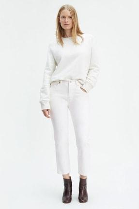 Levi's Kadın Yüksek Bel 501 Cropped Coupe Beyaz Jean