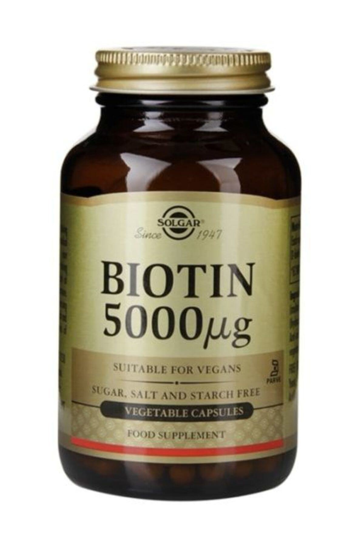 Solgar Biotin 5000 Mcg 50 Kapsül 1