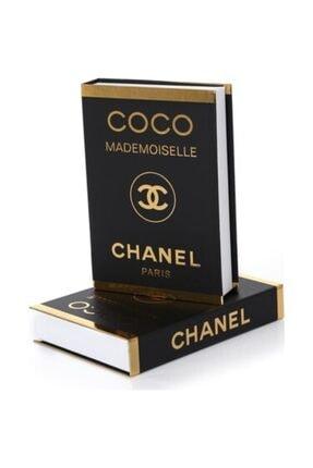 DE HOME Chanel Coco Mademoiselle Dekoratif Kitap Kutu - Gold/siyah