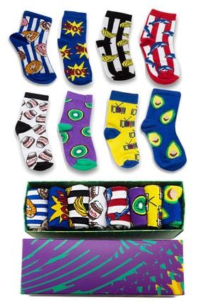Socksarmy 8 'li Desenli Çocuk Çorap Seti
