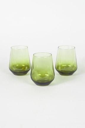 Rakle Yeşil  Su Bardağı Seti 425 cc 3'lü