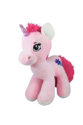 AYÇOCUK Boynuzlu Peluş At Pony Unicorn Pembe 45 Cm