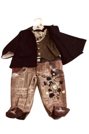 Wonder Kıds Erkek Bebek Siyah Tulum