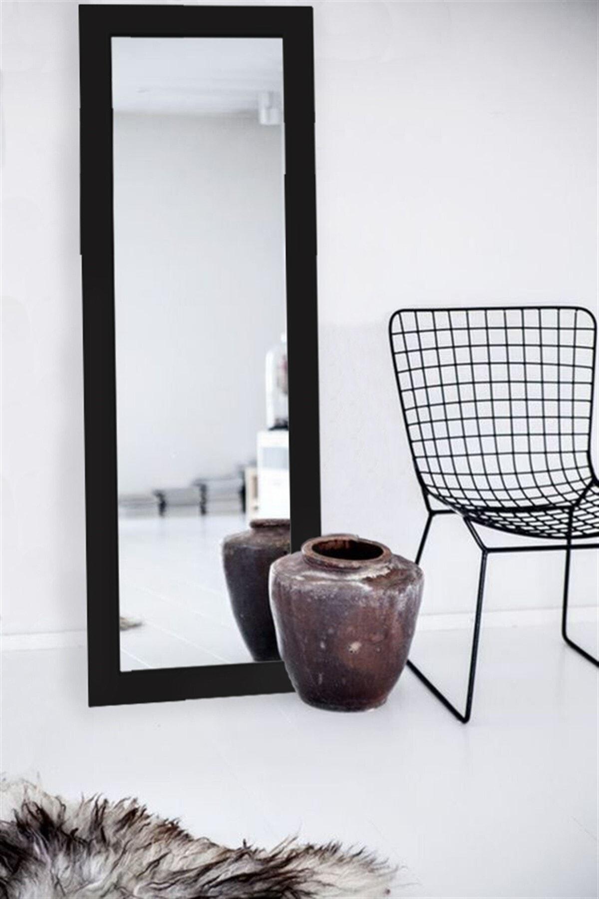 Hüma's Siyah Dekoratif Retro Boy Aynası 110 x 48 cm 2