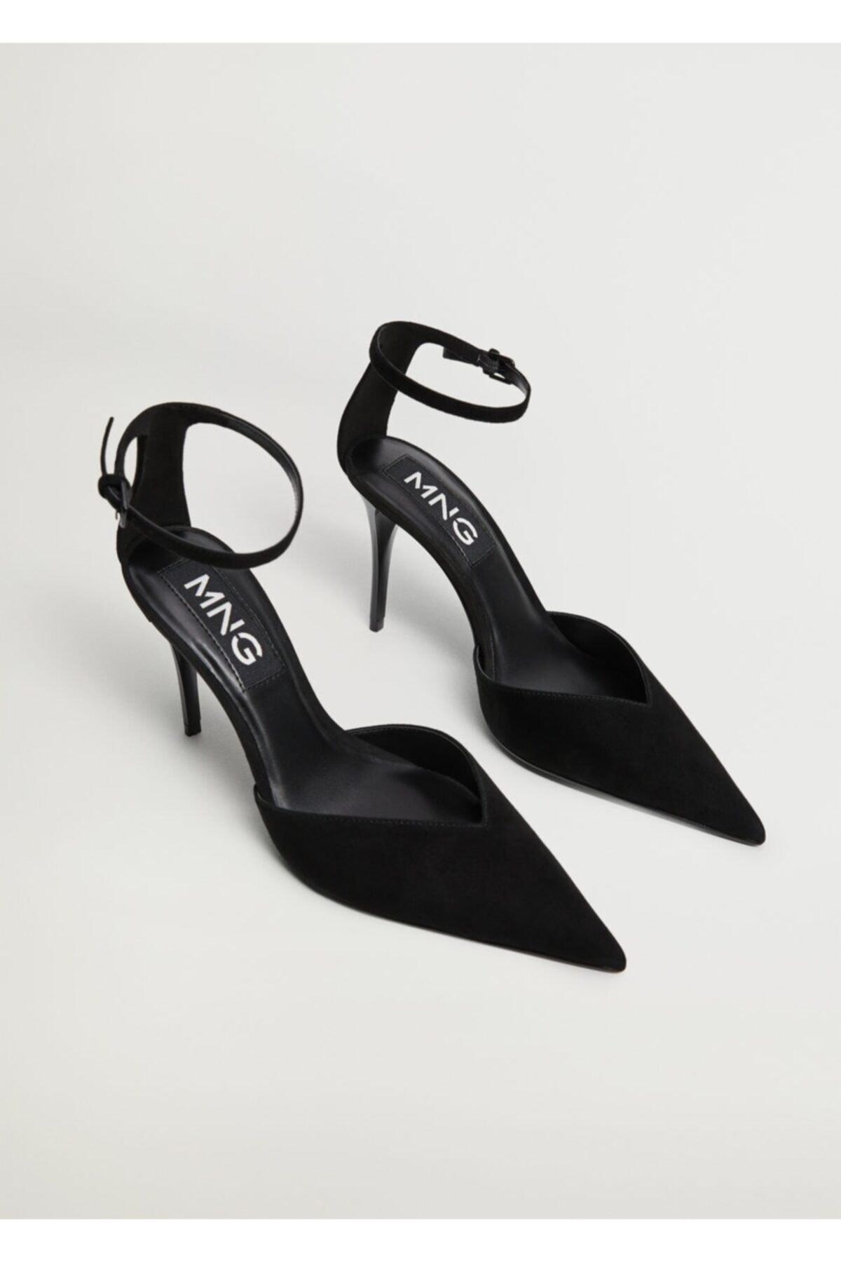 MANGO Woman Kadın Siyah Topuklu Deri Ayakkabı 2