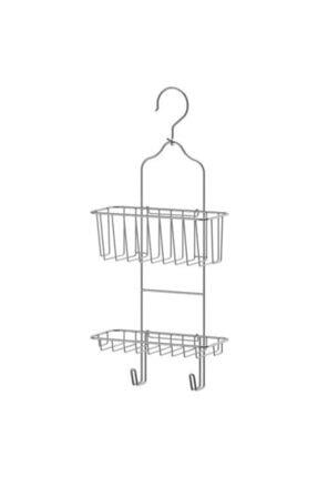 IKEA Immeln 2 Katlı Askılı Paslanmaz Çelik Duş Sepeti