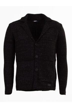 Mcr Erkek Siyah Ceket Model Triko Hırka