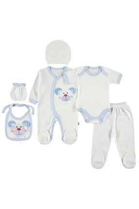 Civil Baby Yenidoğan Bebek Mavi 6'lı Zıbın Seti