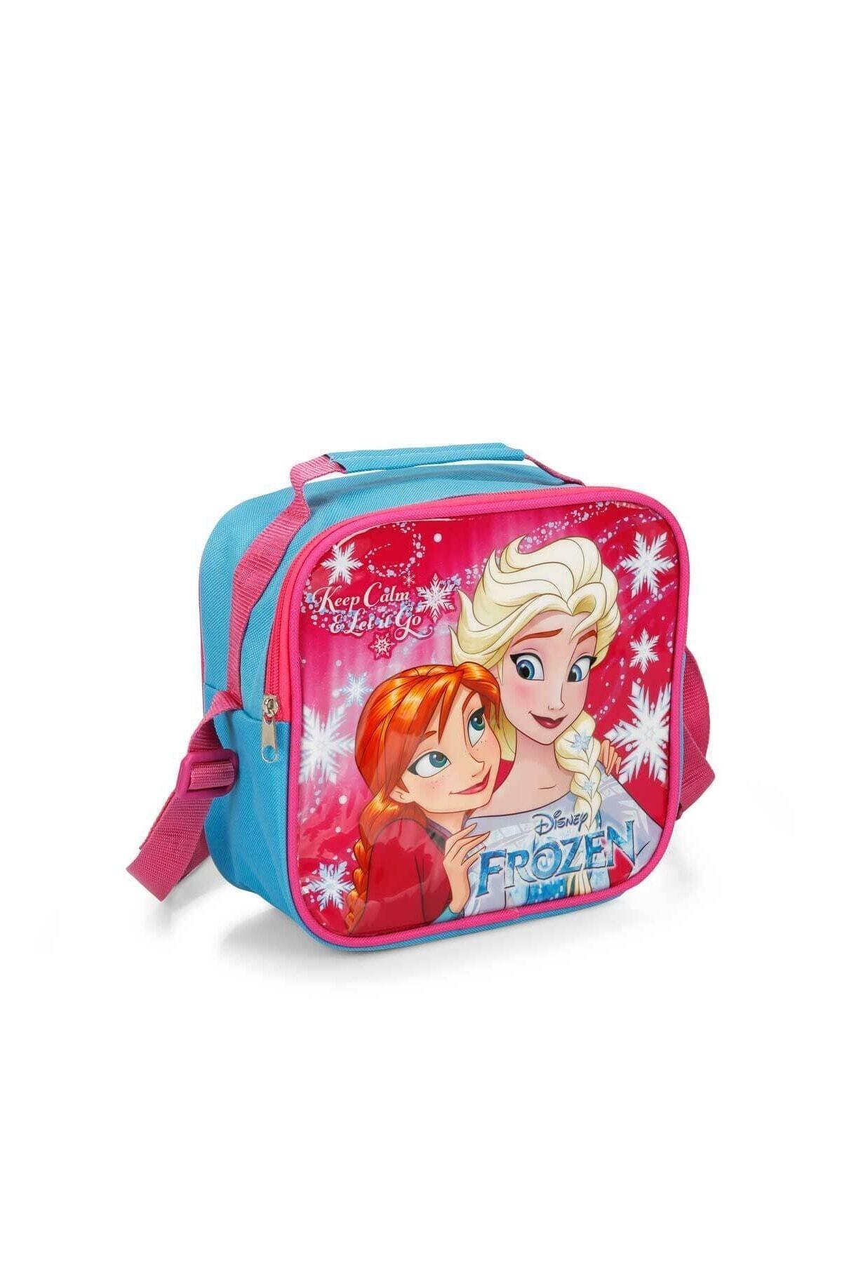 Frozen Kız Çocuk Pembe Disney Elsa Beslenme Çantası 96456 1