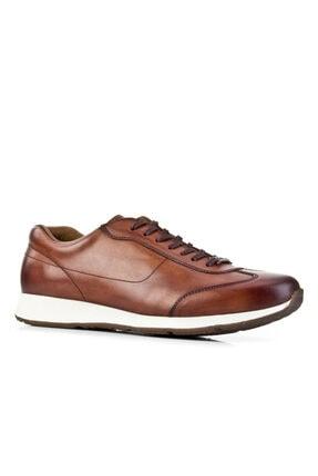 Cabani Erkek Taba  Bağcıklı Sanetta Deri Klasik Ayakkabı