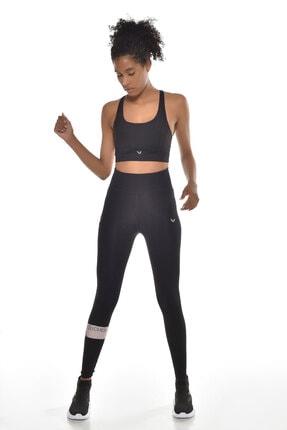 bilcee Kadın Siyah  Yüksek Bel Toparlayıcı Sporcu Tayt Gw-9212