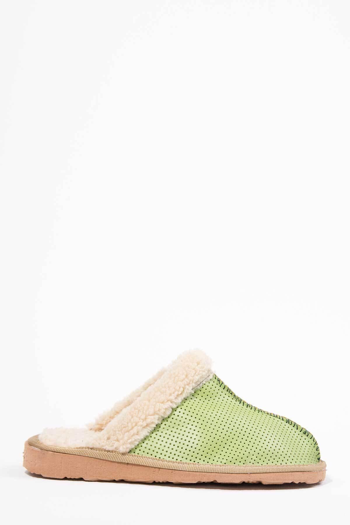 Oioi Kadın Yeşil Ev Terliği 1004-127-0001_1009 1