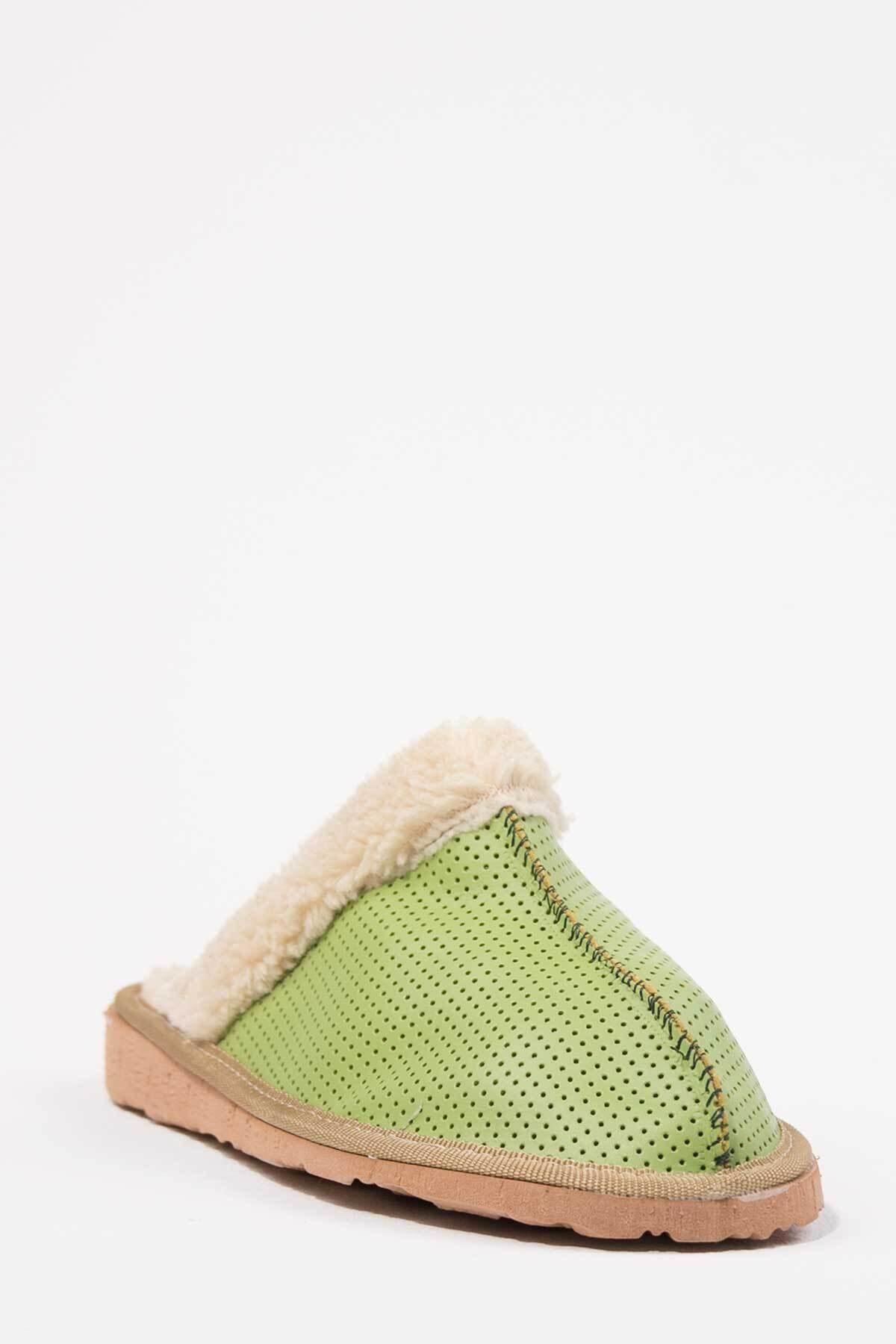 Oioi Kadın Yeşil Ev Terliği 1004-127-0001_1009 2