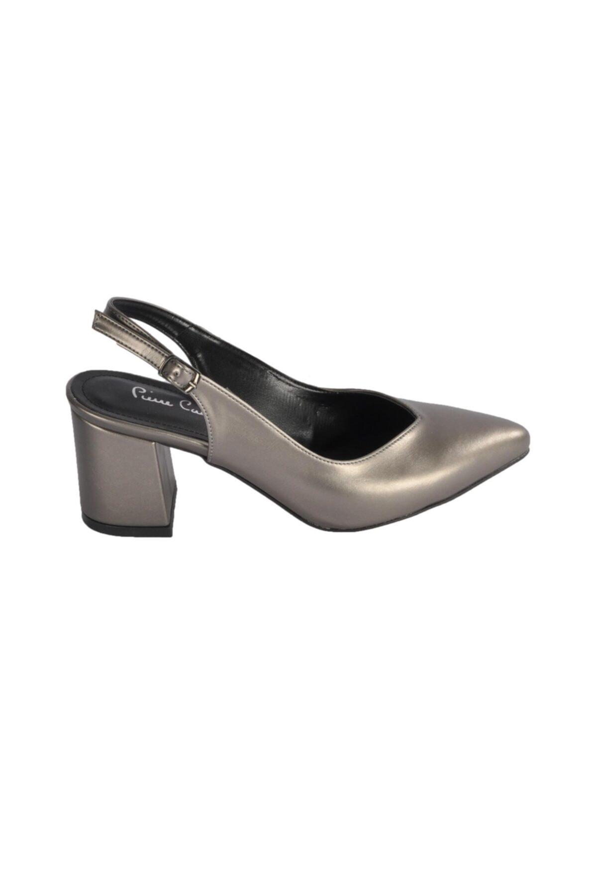 Pierre Cardin Kadın Platin Topuklu Ayakkabı Pc-50173 2