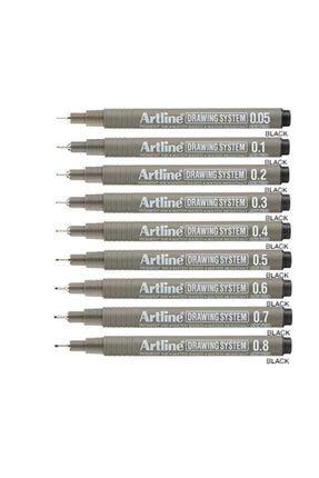 artline Drawing System Teknik Çizim Kalemi 9 Lu Tam Set