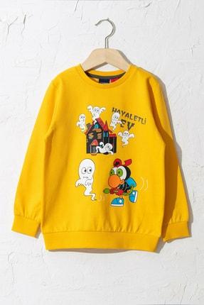 LC Waikiki Sizinkiler Erkek Çocuk Orta Sarı Fx3 Sweatshirt