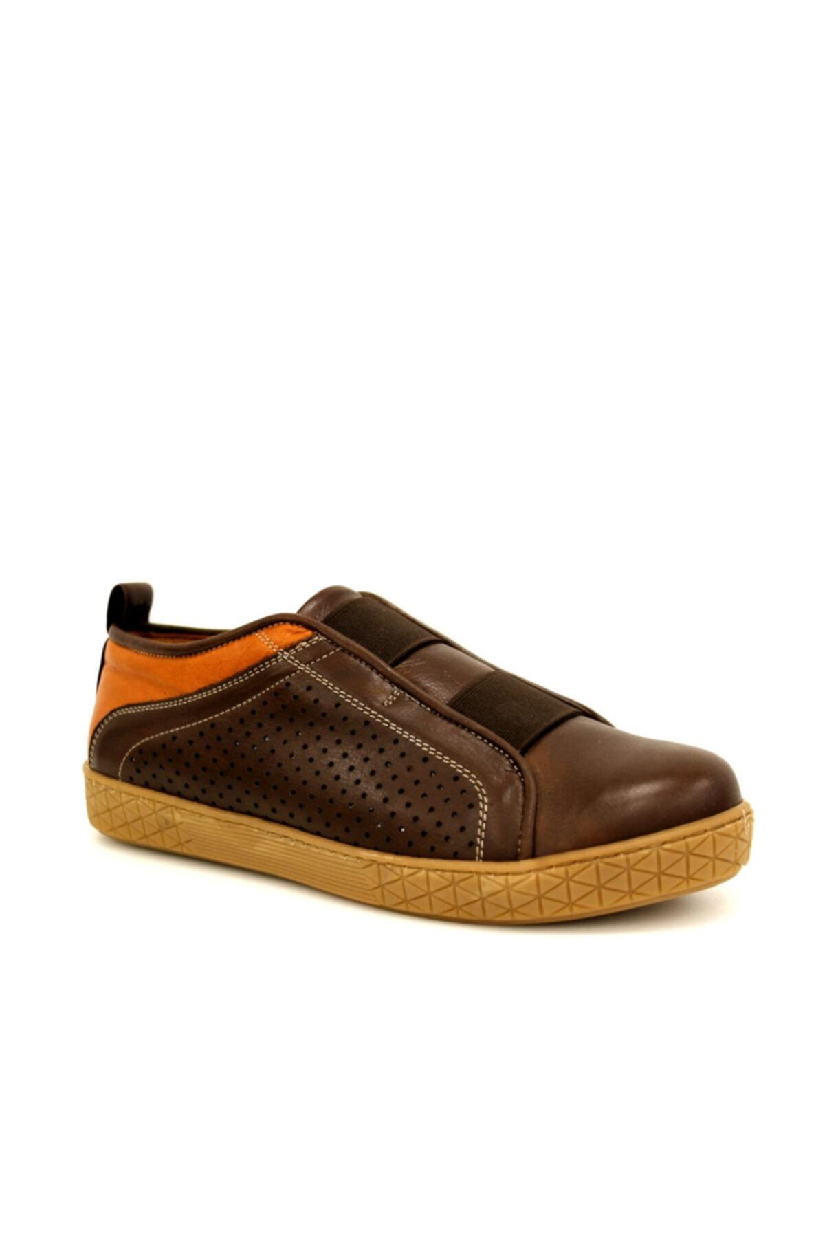 Beta Shoes Kadın Hakiki Deri Casual Ayakkabı Kahve 1