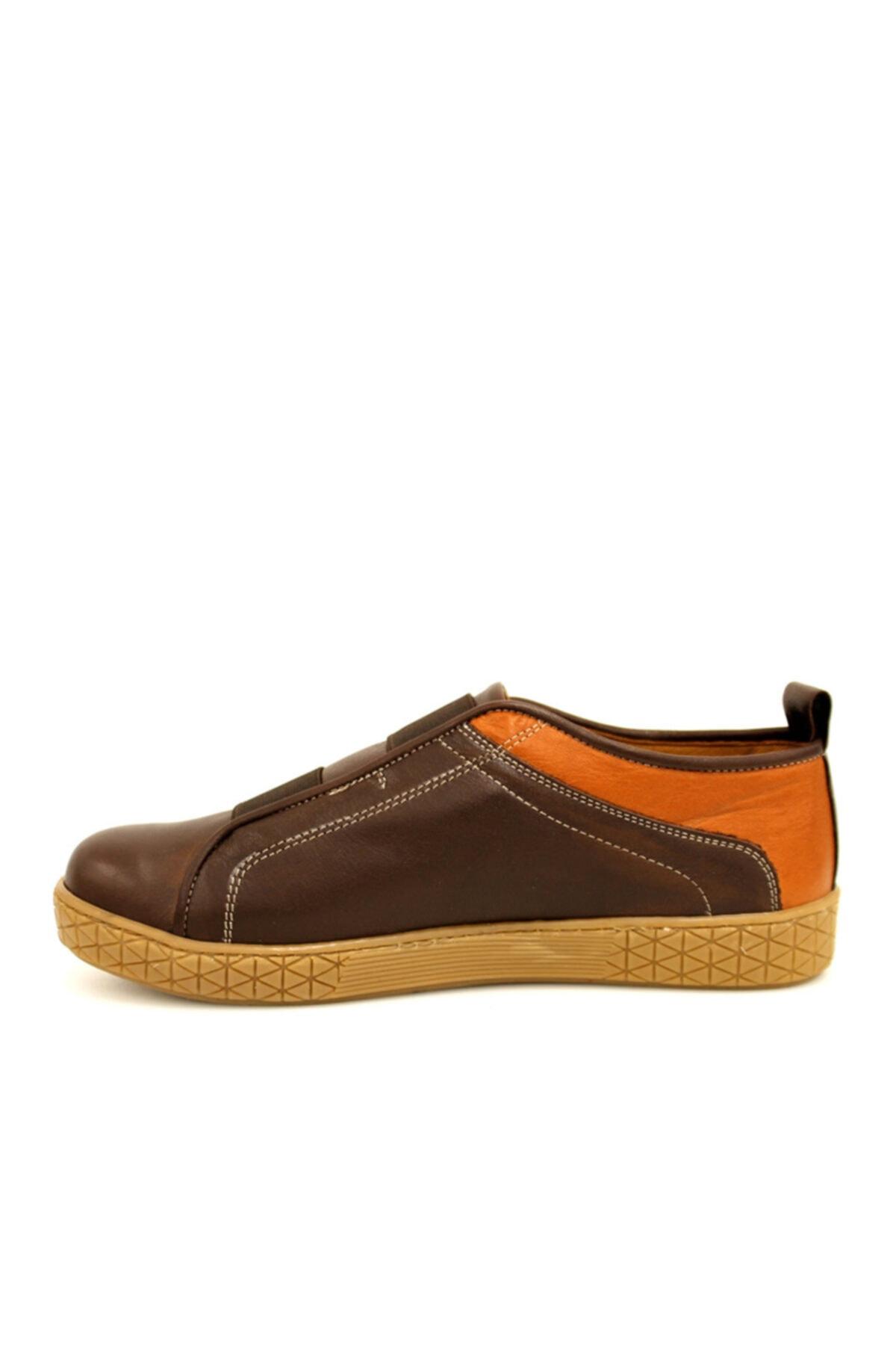 Beta Shoes Kadın Hakiki Deri Casual Ayakkabı Kahve 2