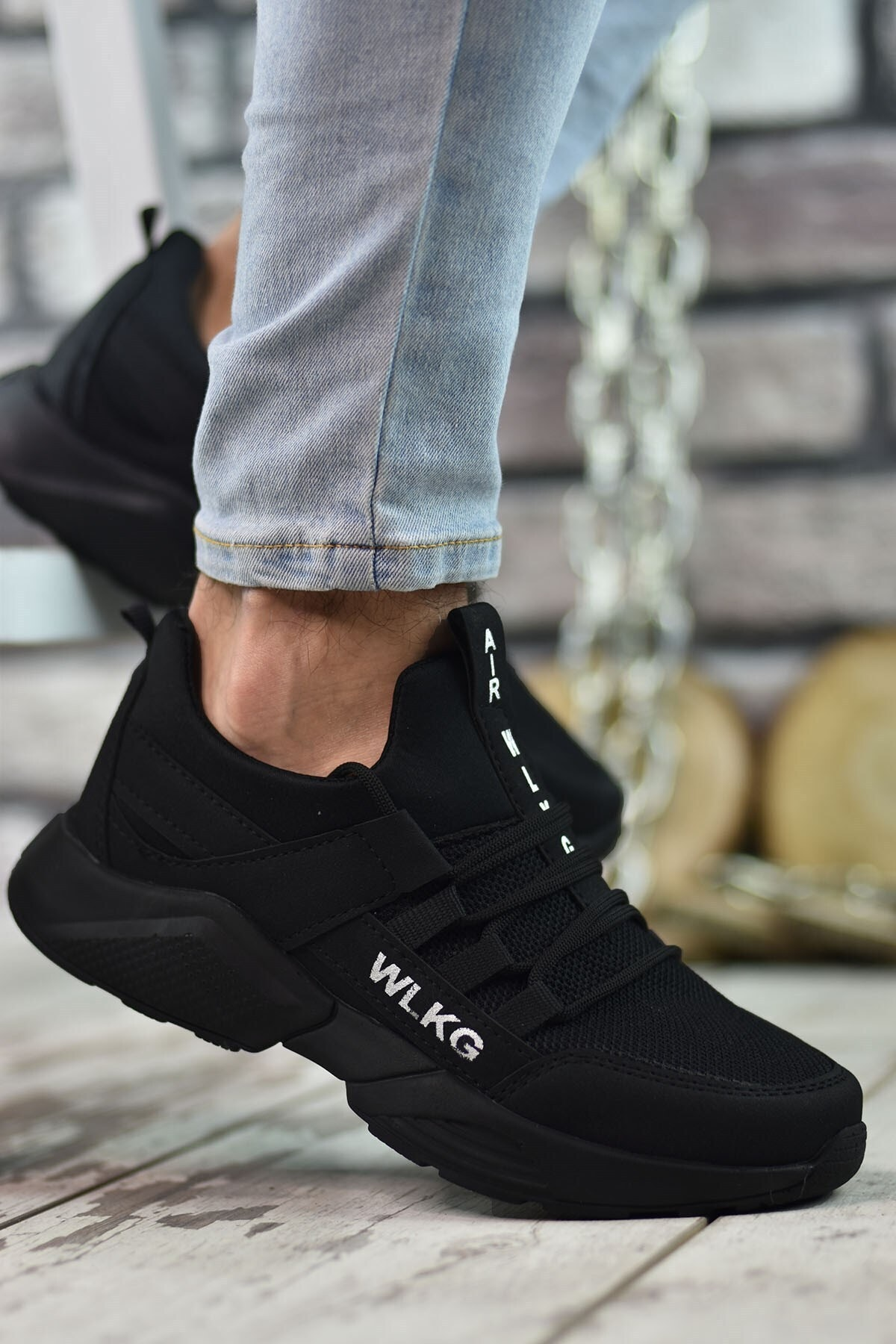 Riccon Siyah Siyah Unisex Sneaker 0012072 1