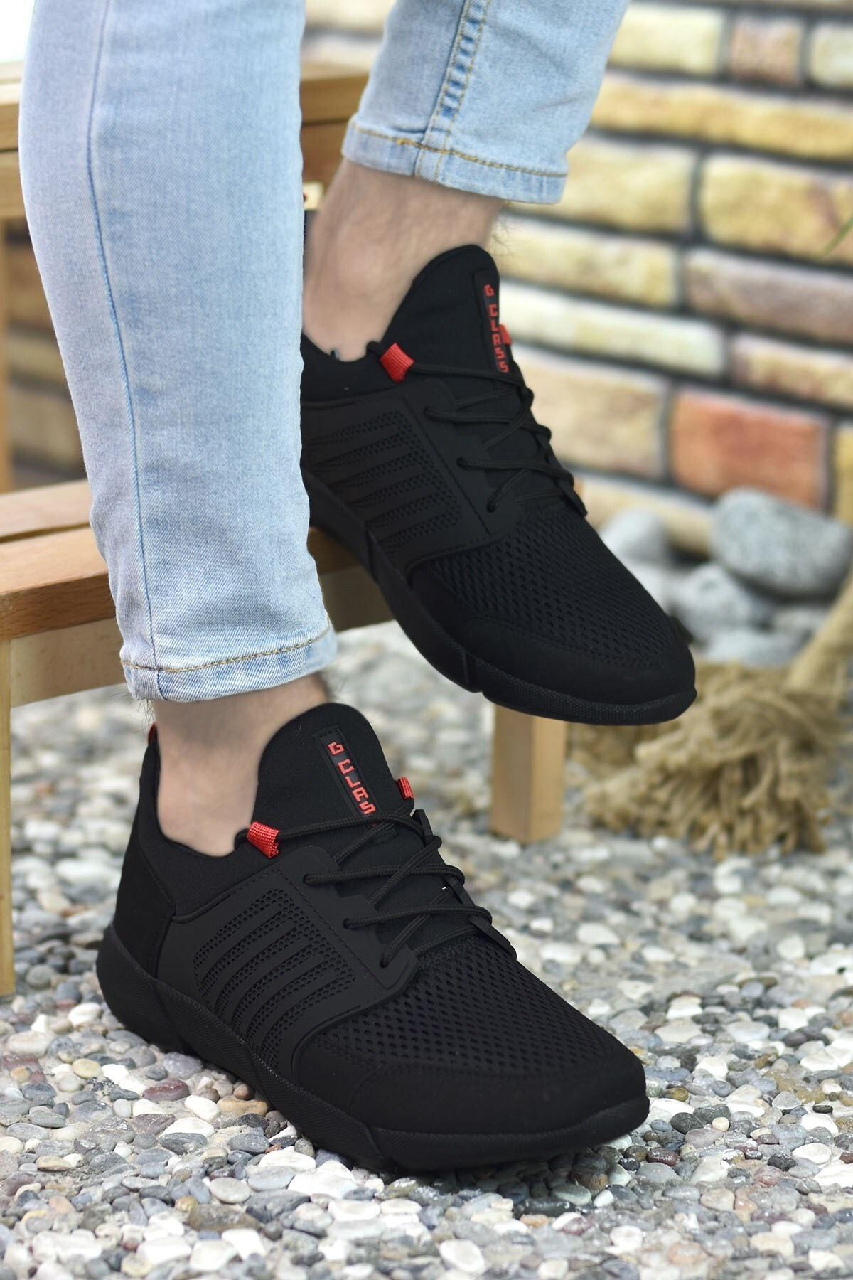 Riccon Siyah Kırmızı Erkek Sneaker 0012105 2
